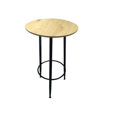 Kör alakú asztalka fekete lábakkal, 60 cm - LAGOS